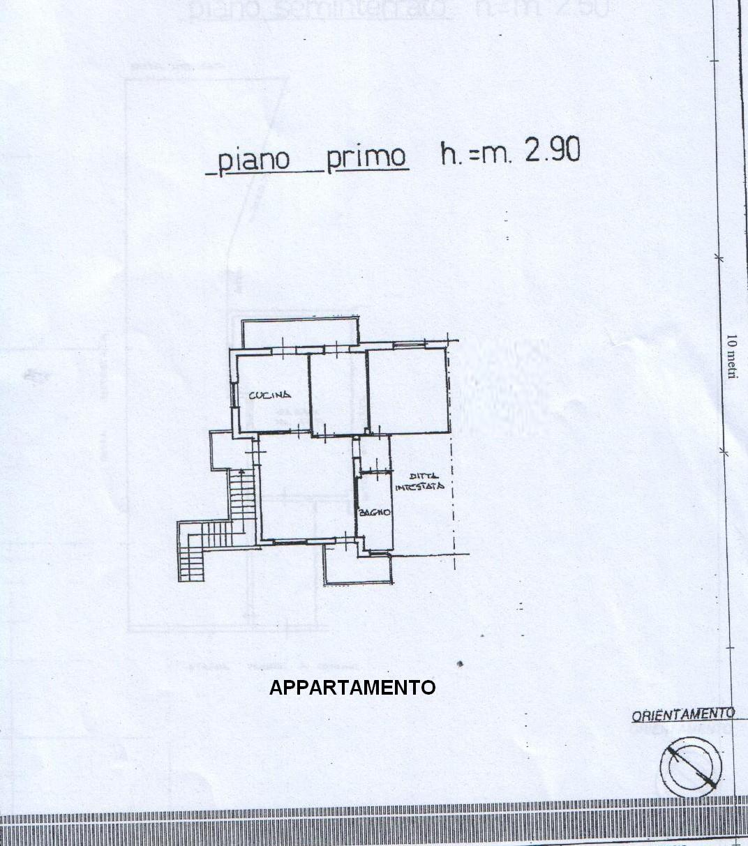 Planimetria 3/4 per rif. 8166