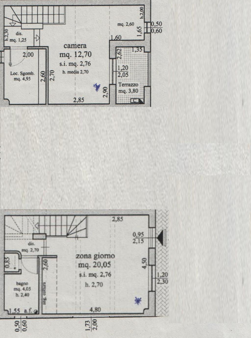 Planimetria 1/2 per rif. 8245-02