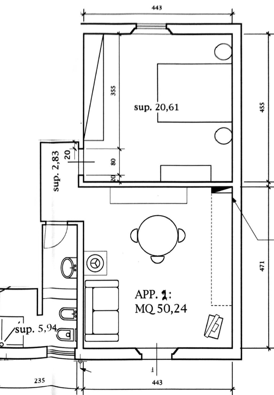 Planimetria 1/3 per rif. 7664-02