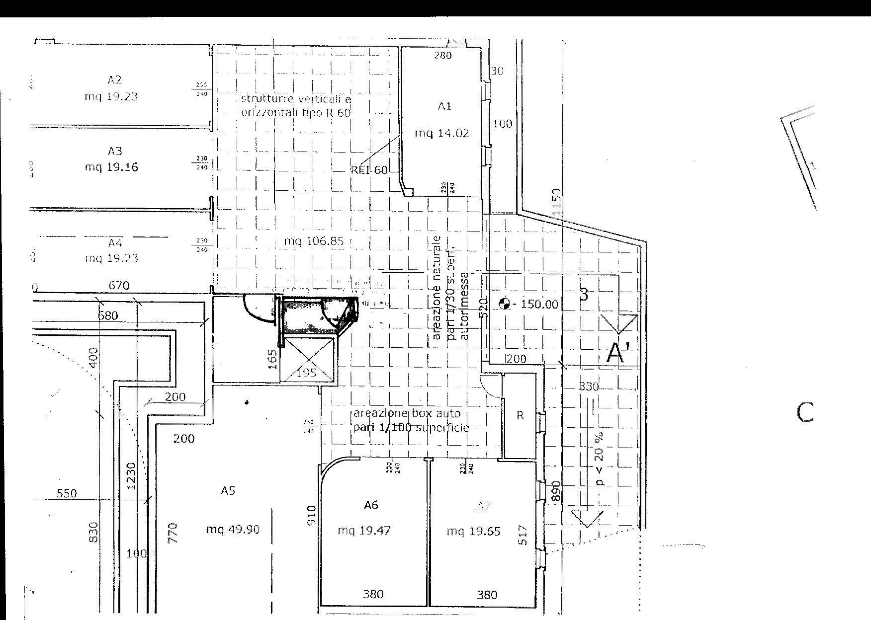 Planimetria 1/5 per rif. 8263