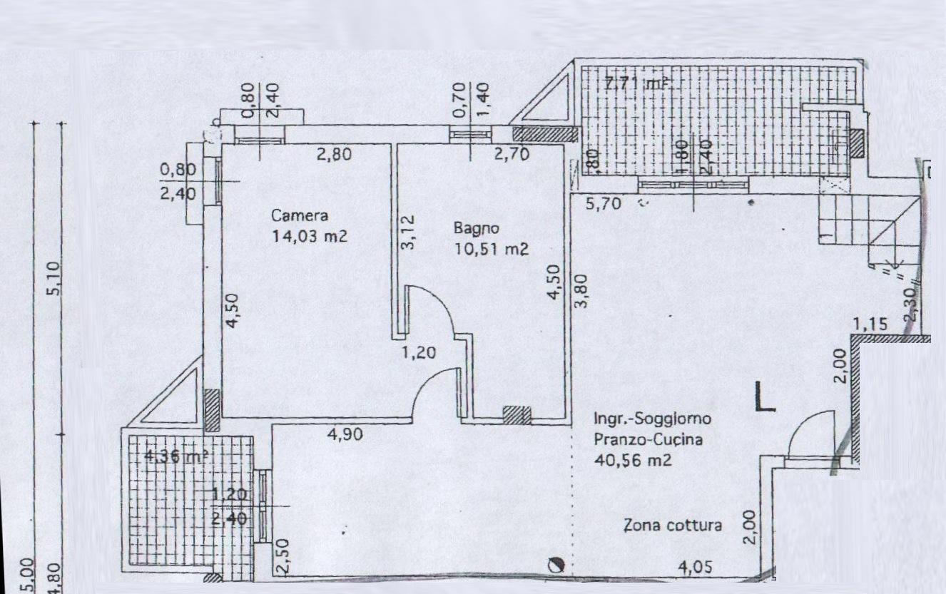 Planimetria 3/4 per rif. 8144