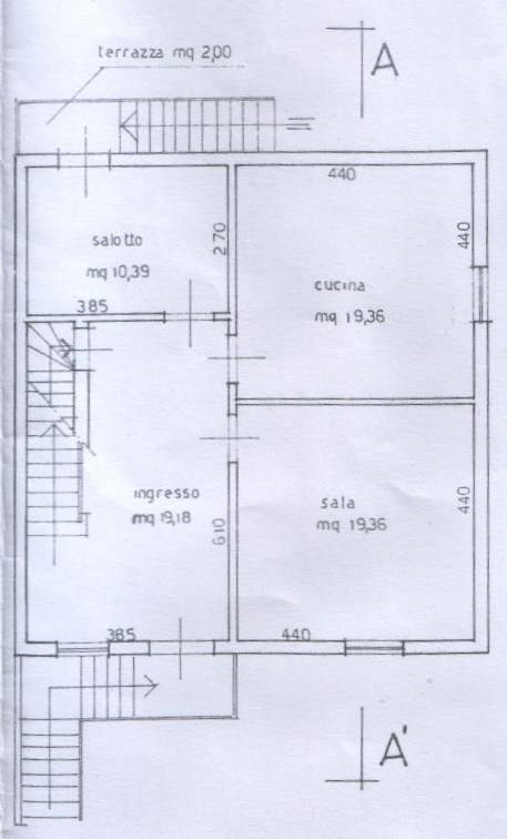 Planimetria 3/5 per rif. 6709