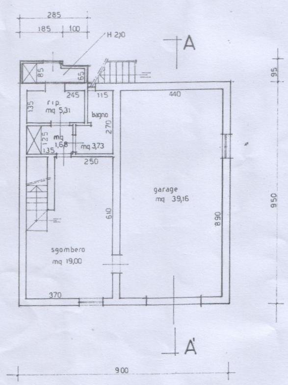 Planimetria 1/5 per rif. 6709