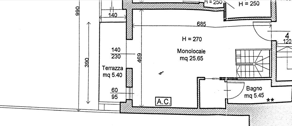 Planimetria 1/3 per rif. 8501-02