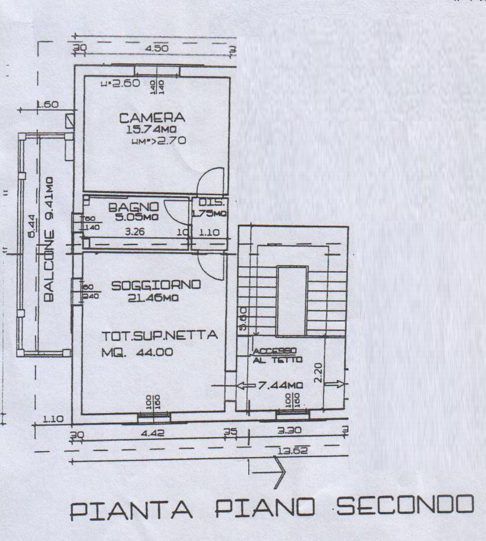 Planimetria 1/2 per rif. 8012-03