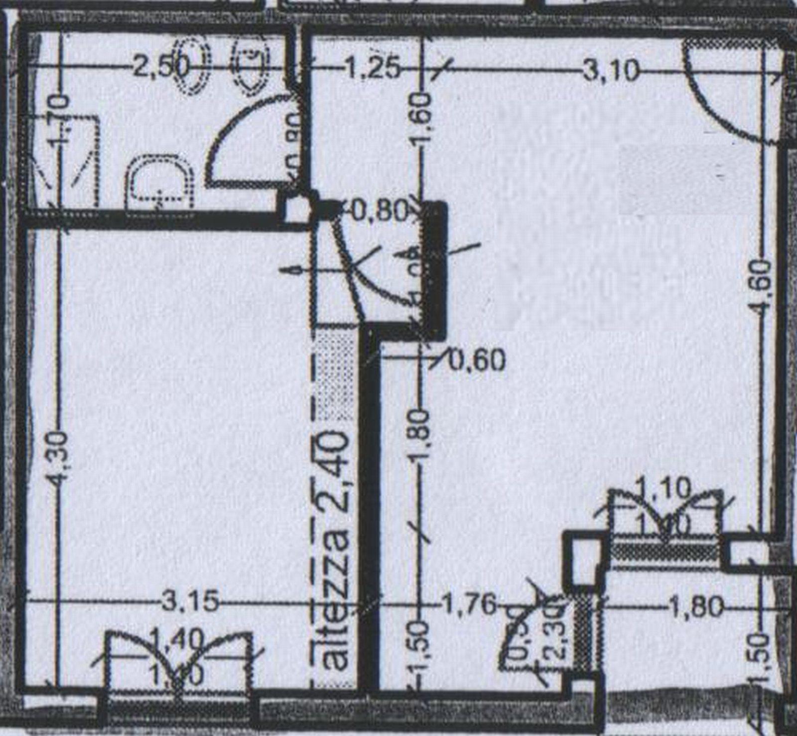 Planimetria 1/2 per rif. 8539
