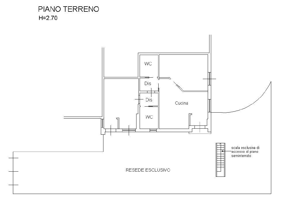 Planimetria 1/2 per rif. 7915-02