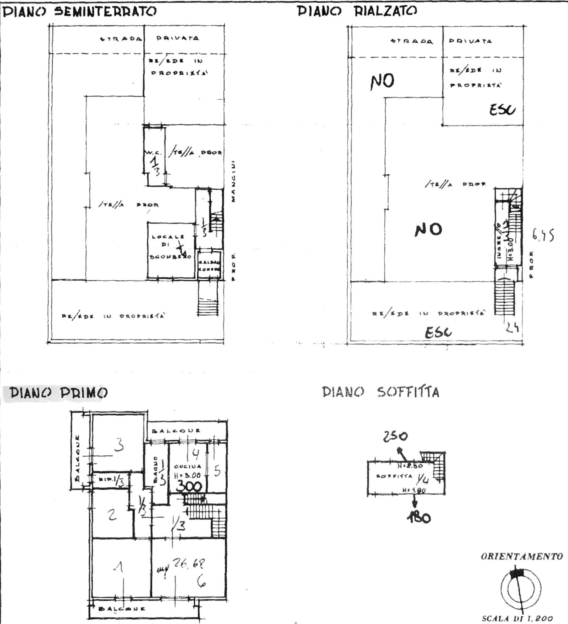 Planimetria 1/3 per rif. 8397