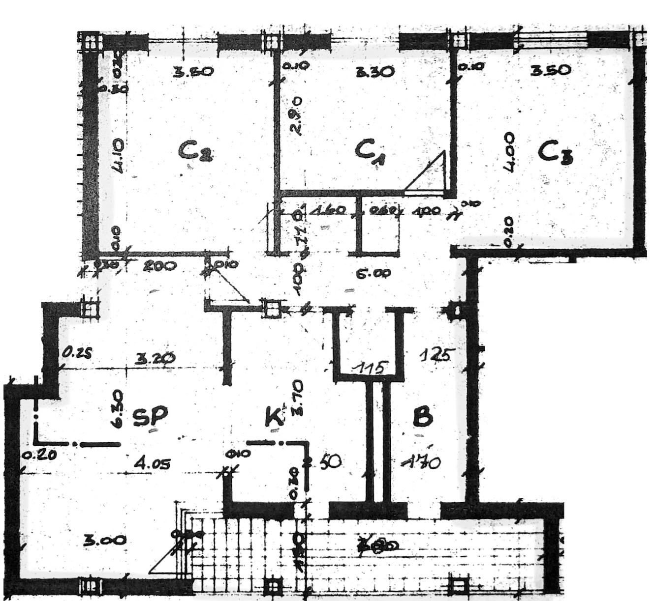 Planimetria 1/2 per rif. 7301-02