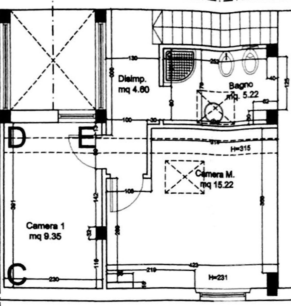 Planimetria 2/2 per rif. 8604