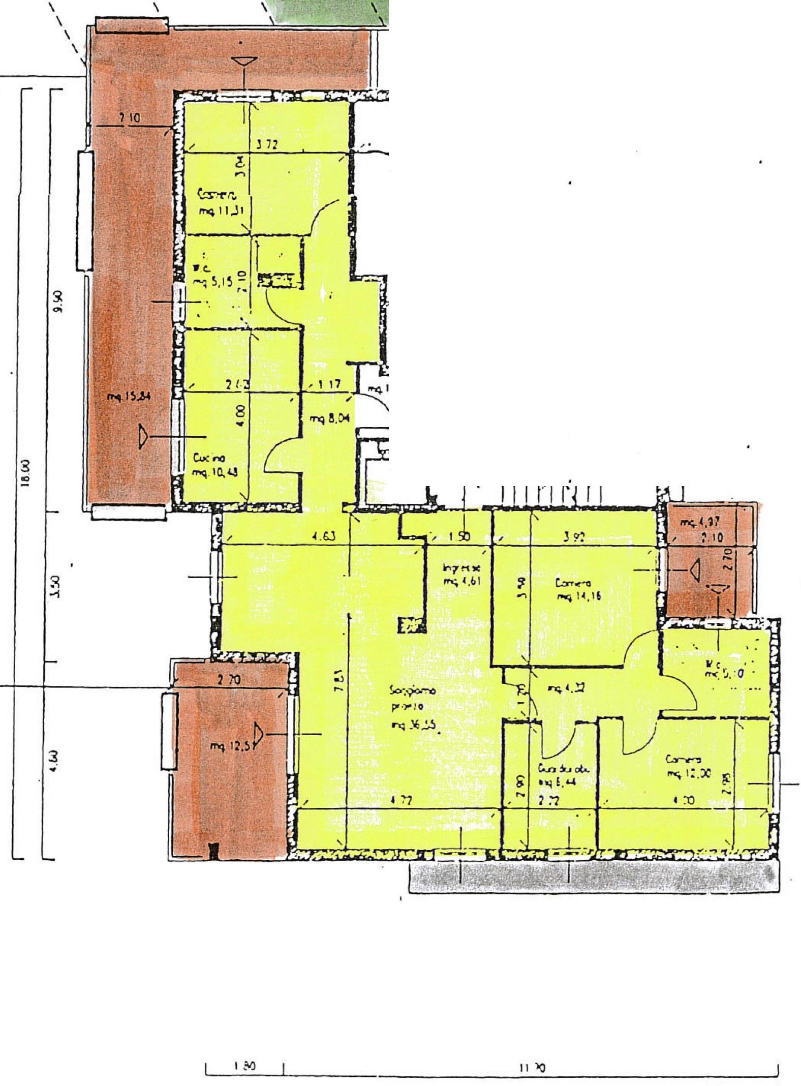 Planimetria 1/2 per rif. 8600-02