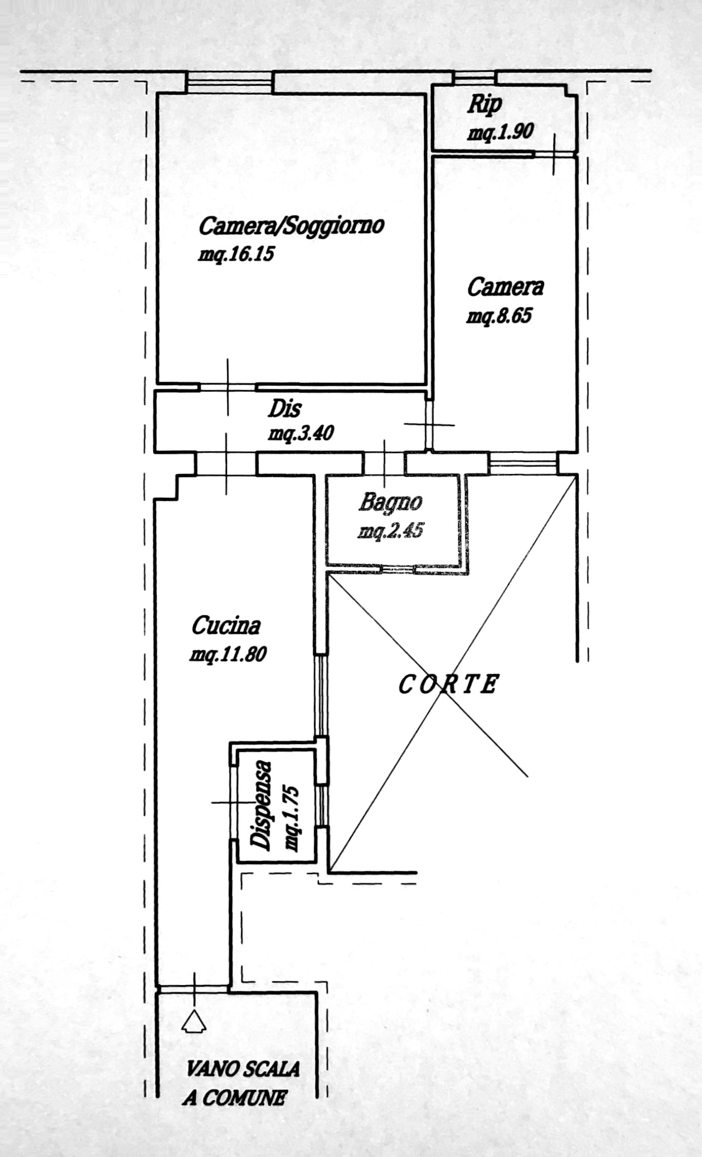 Planimetria 1/1 per rif. 8634