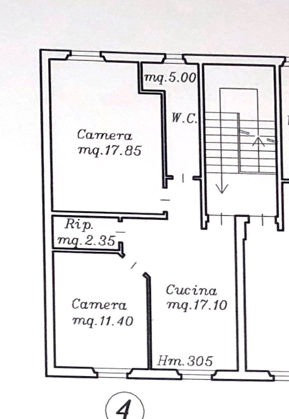 Planimetria 1/2 per rif. 8642