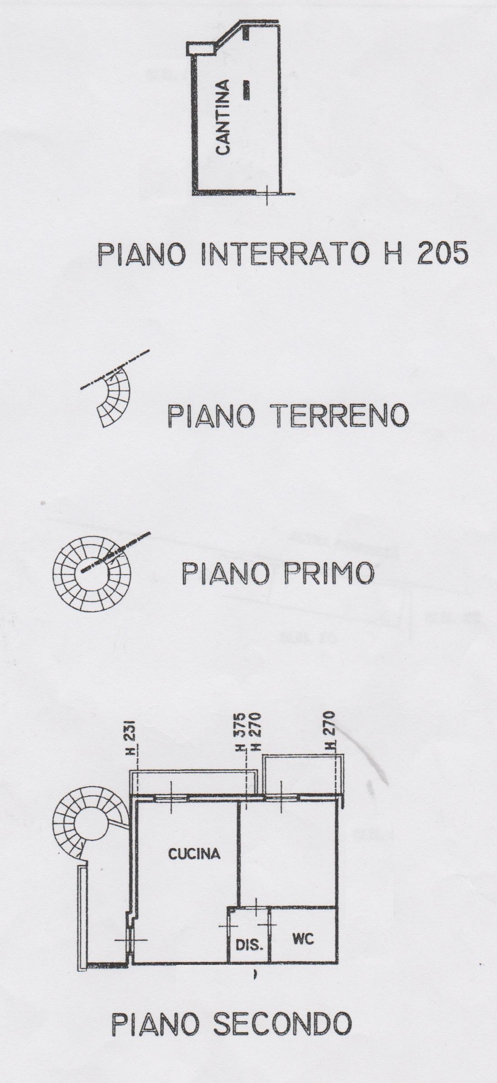 Planimetria 1/3 per rif. 7520-02