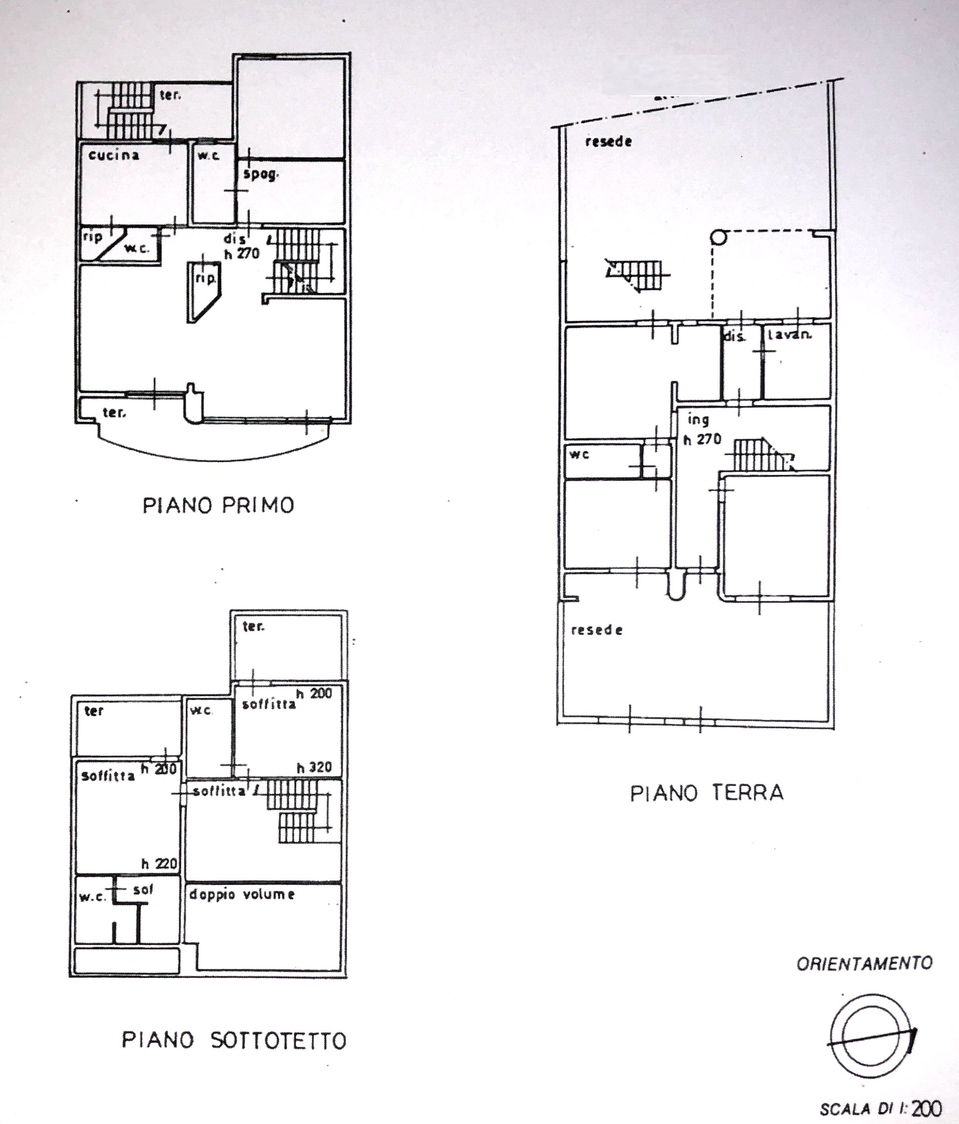 Planimetria 1/1 per rif. 8631