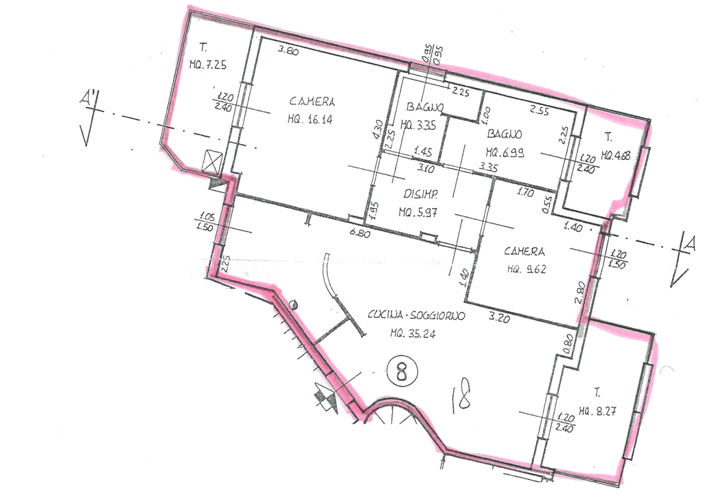 Planimetria 1/2 per rif. 7074-04