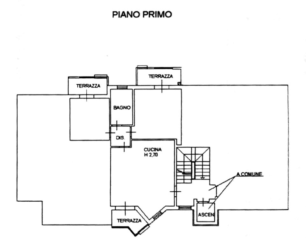 Planimetria 1/2 per rif. 8686
