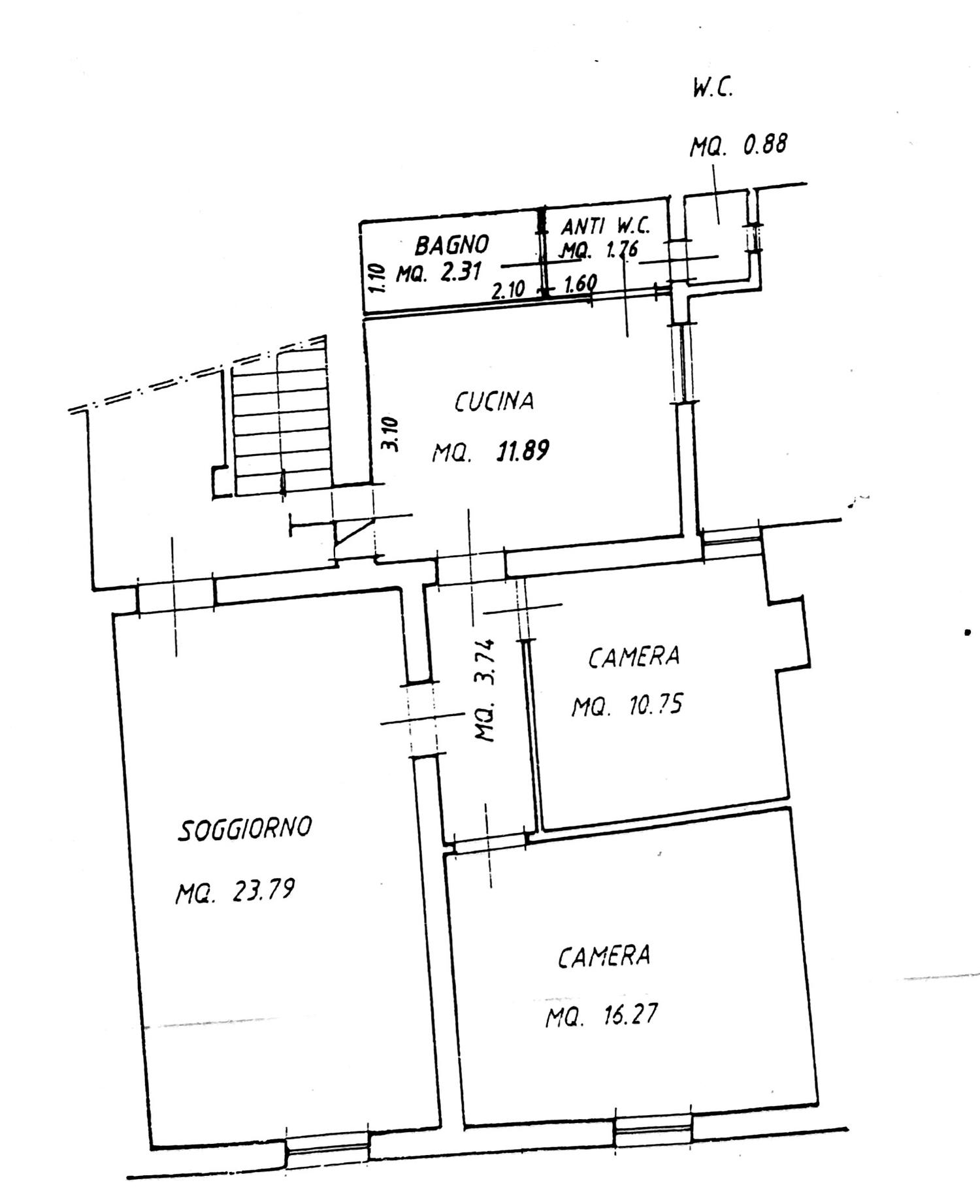 Planimetria 1/2 per rif. 8697
