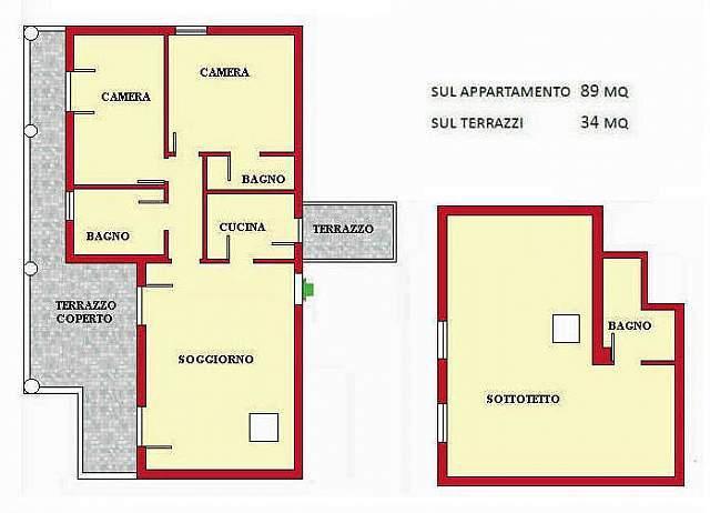 Planimetria 1/1 per rif. DE134