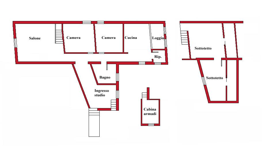 Planimetria 1/1 per rif. DE1