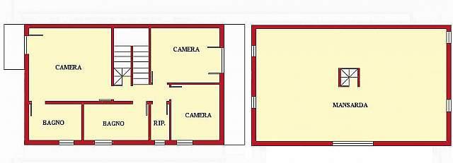 Planimetria 2/2 per rif. DE141a