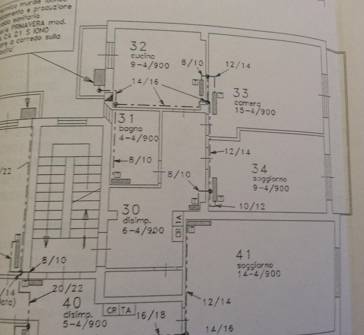 Planimetria /1 per rif. 2332