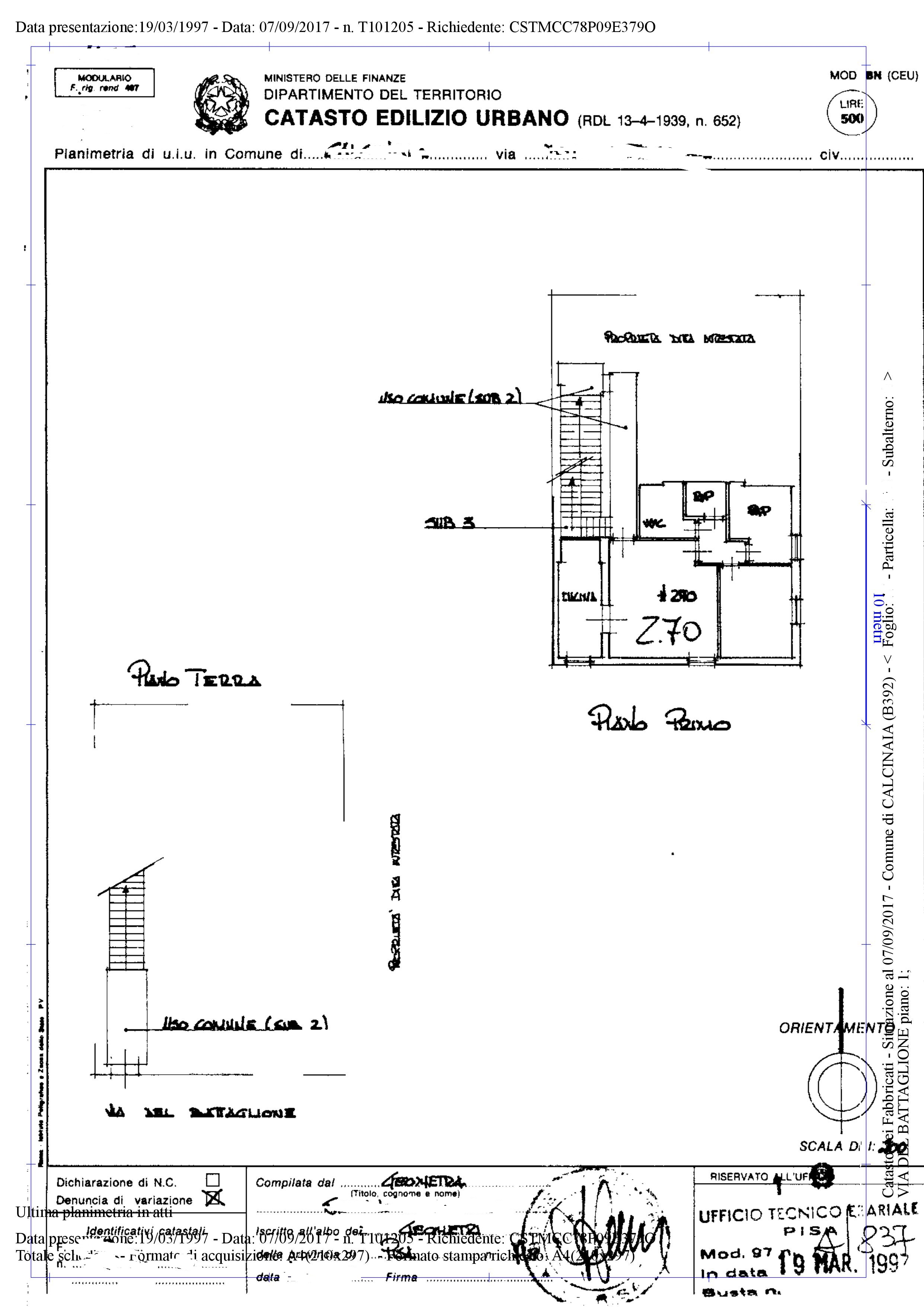 Planimetria 1/1 per rif. AR246