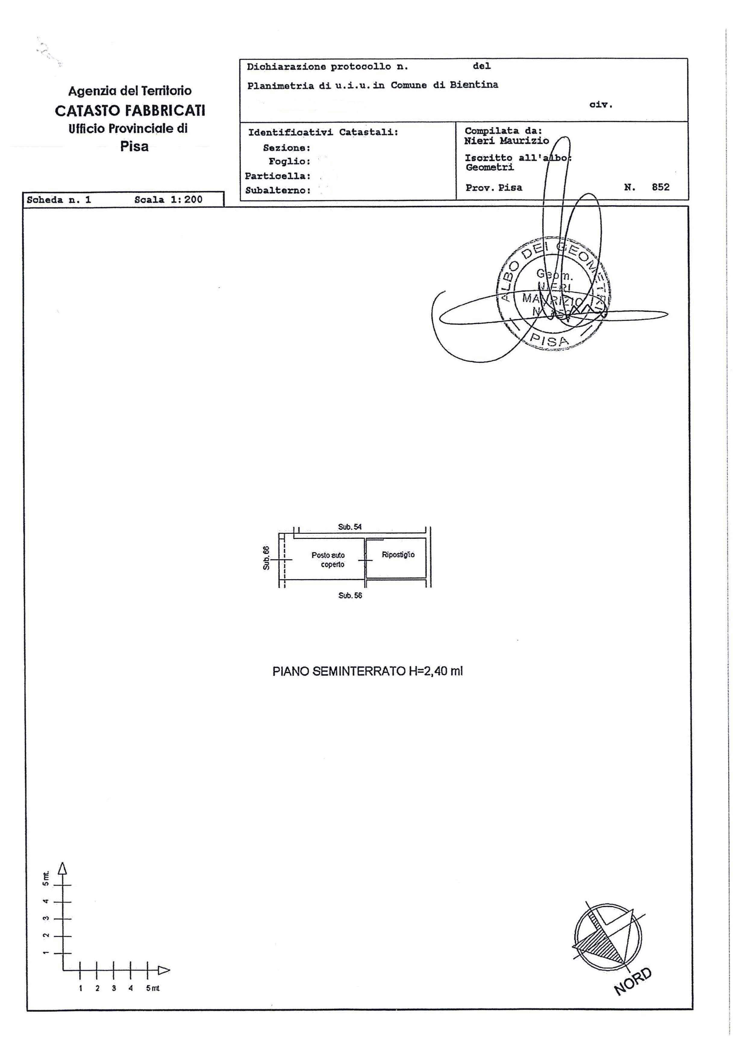 Planimetria 2/2 per rif. AR266