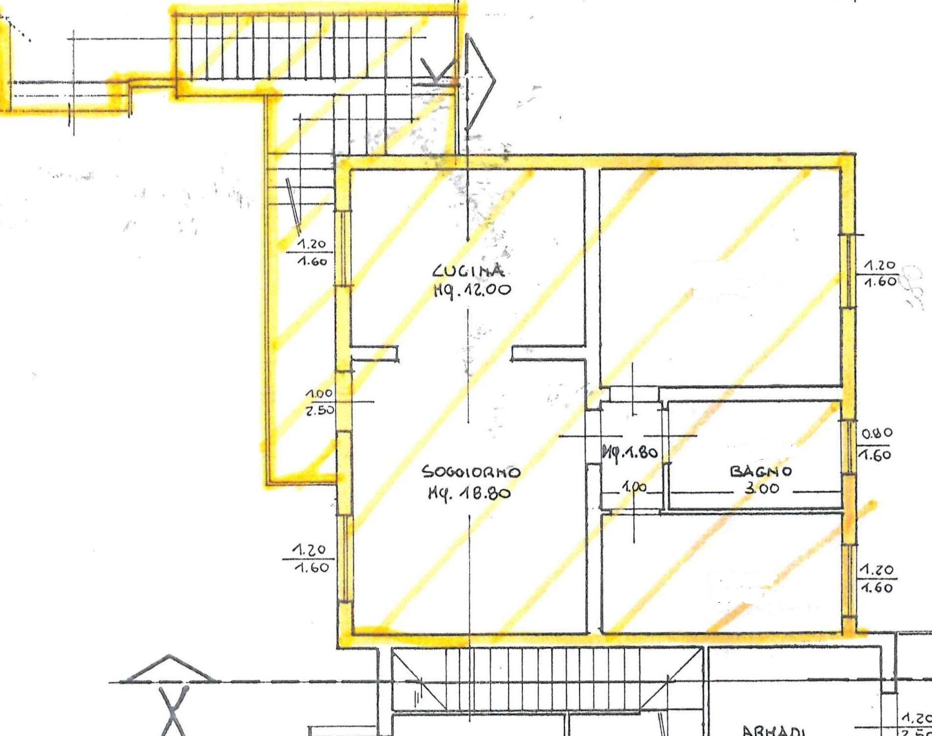 Planimetria 1/2 per rif. AR283