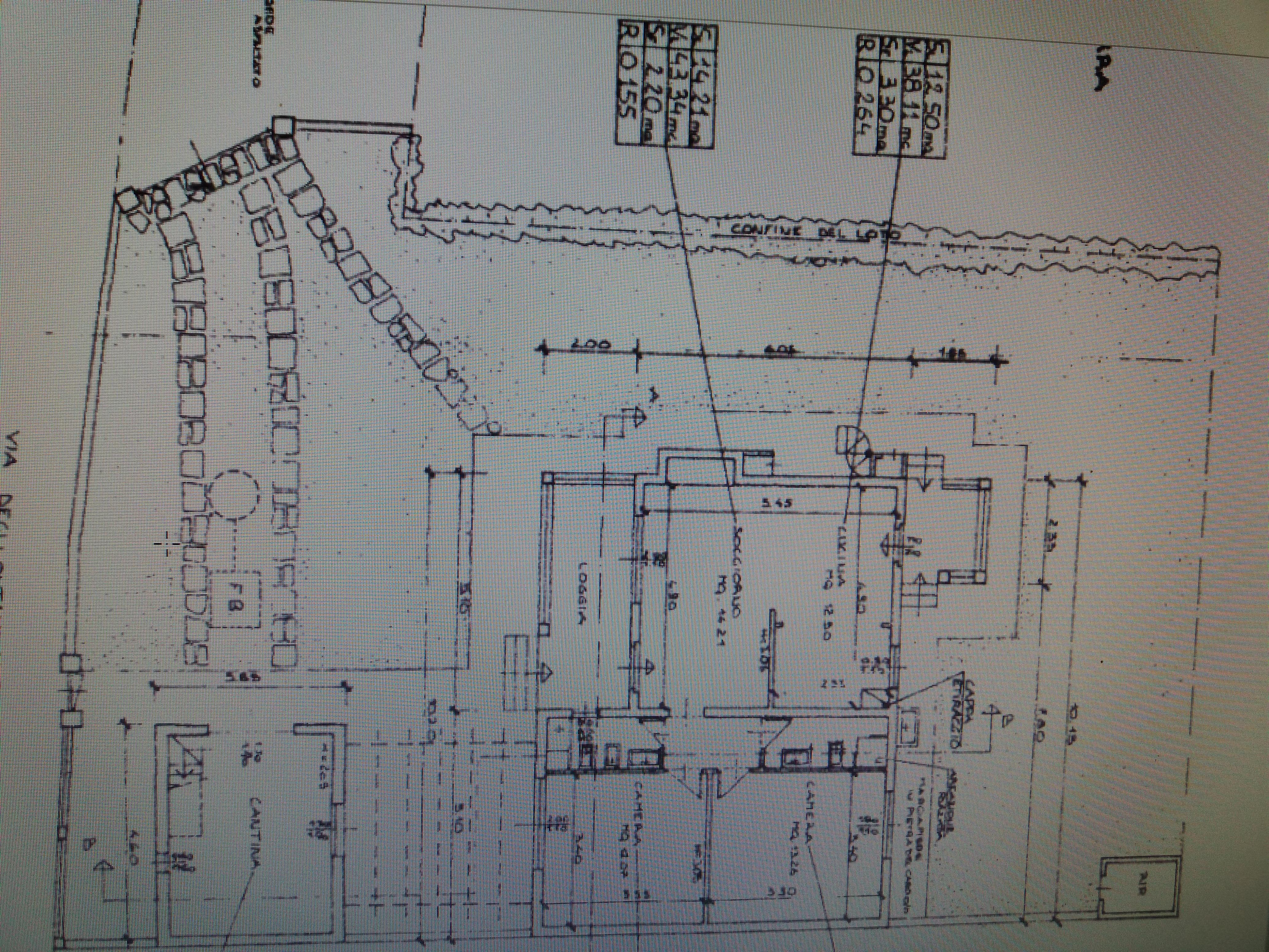 Planimetria 1/2 per rif. 496