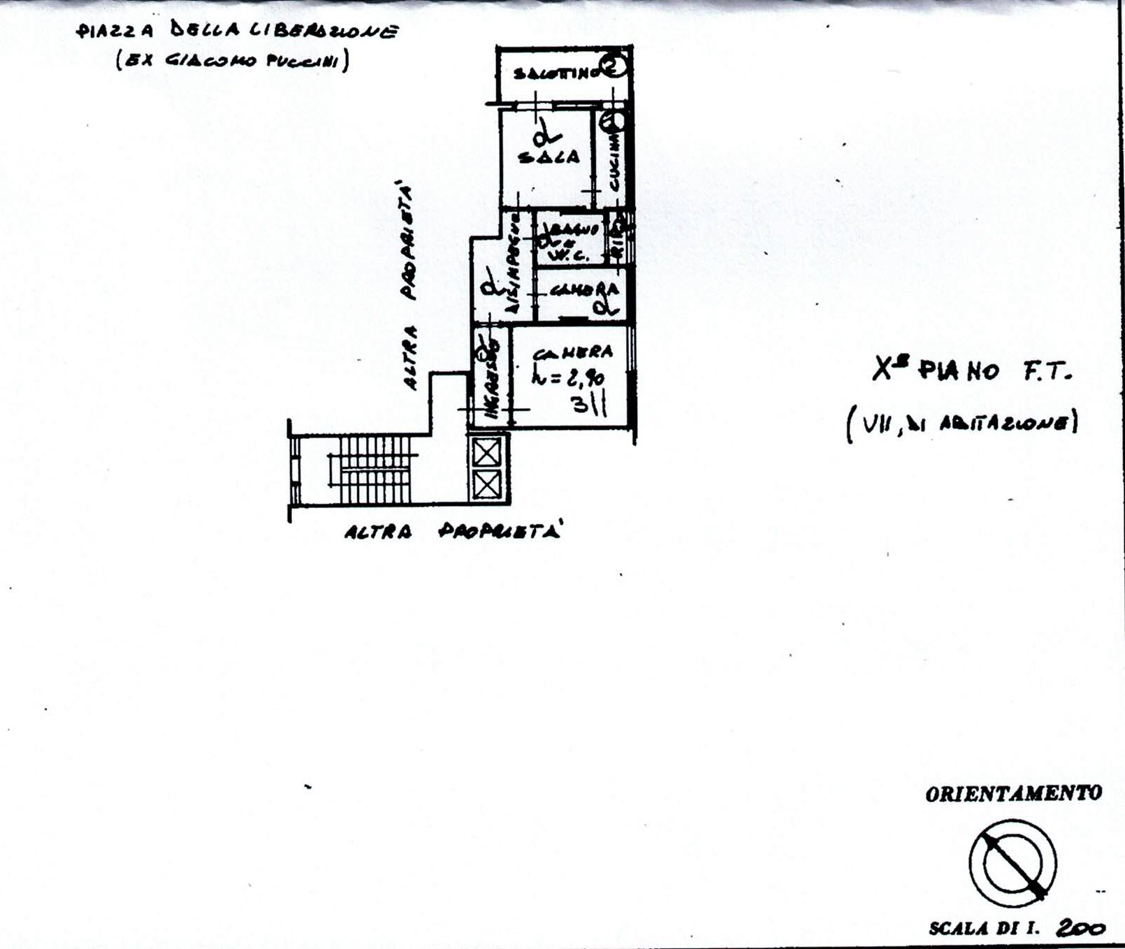 Planimetria 1/1 per rif. 519