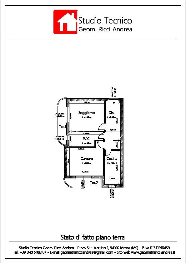 Planimetria 1/2 per rif. 540