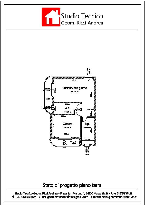 Planimetria 2/2 per rif. 540