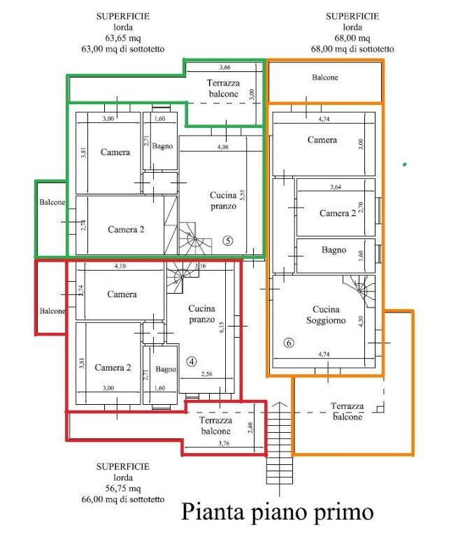 Planimetria 2/3 per rif. 17.42