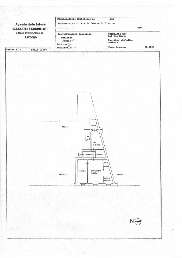 Planimetria /1 per rif. 578