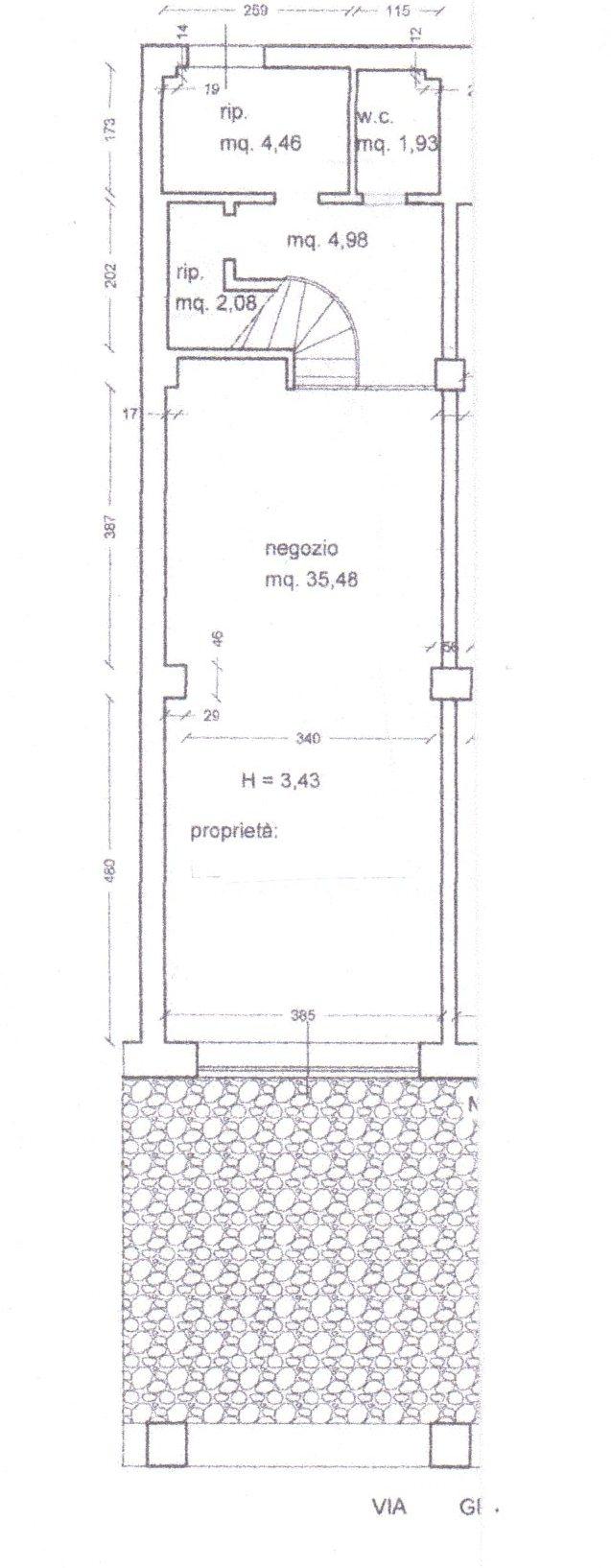 Planimetria /1 per rif. 863