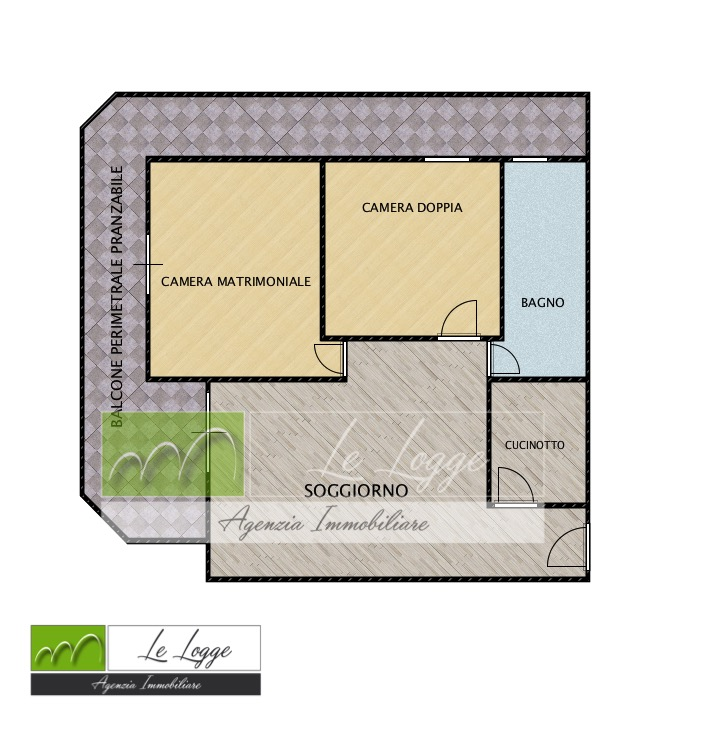 Planimetria 1/1 per rif. LOG-207