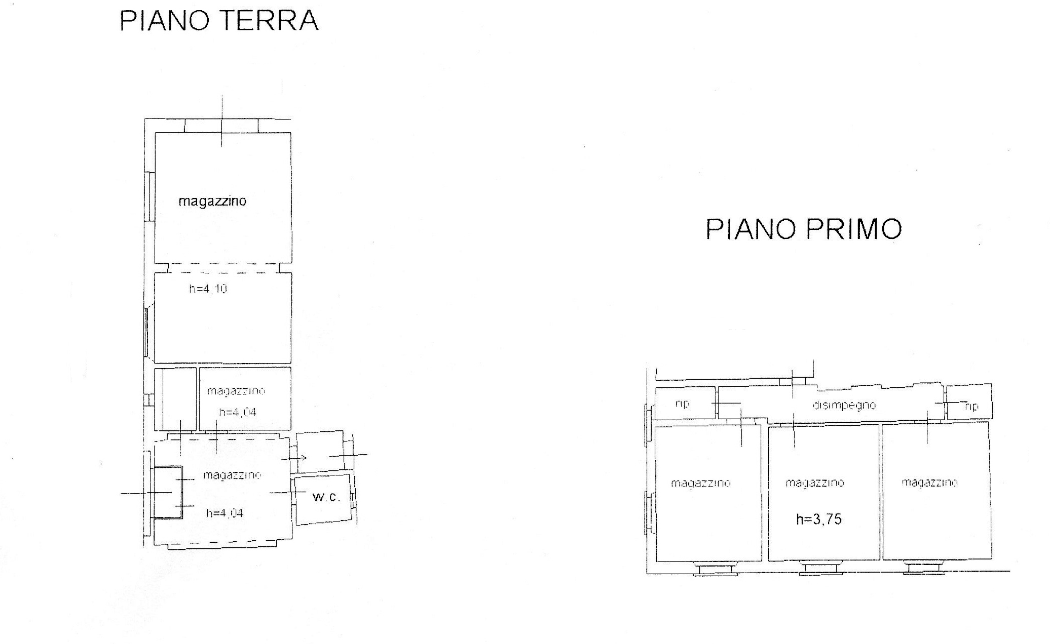 Planimetria 1/1 per rif. 832