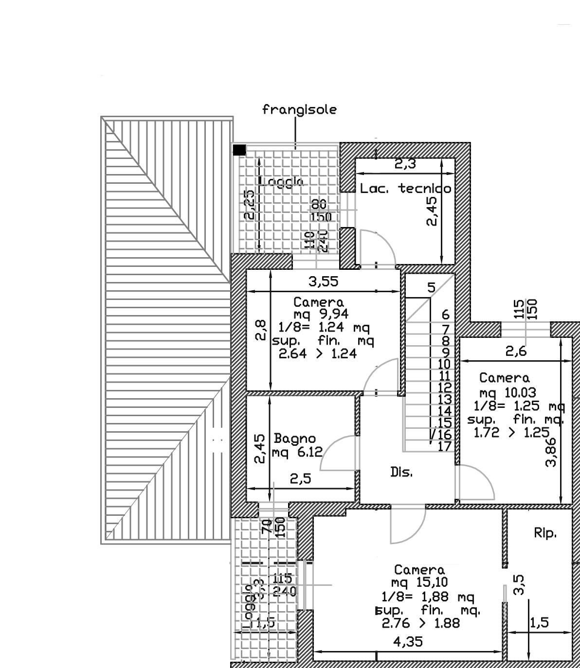 Planimetria 1/3 per rif. 121