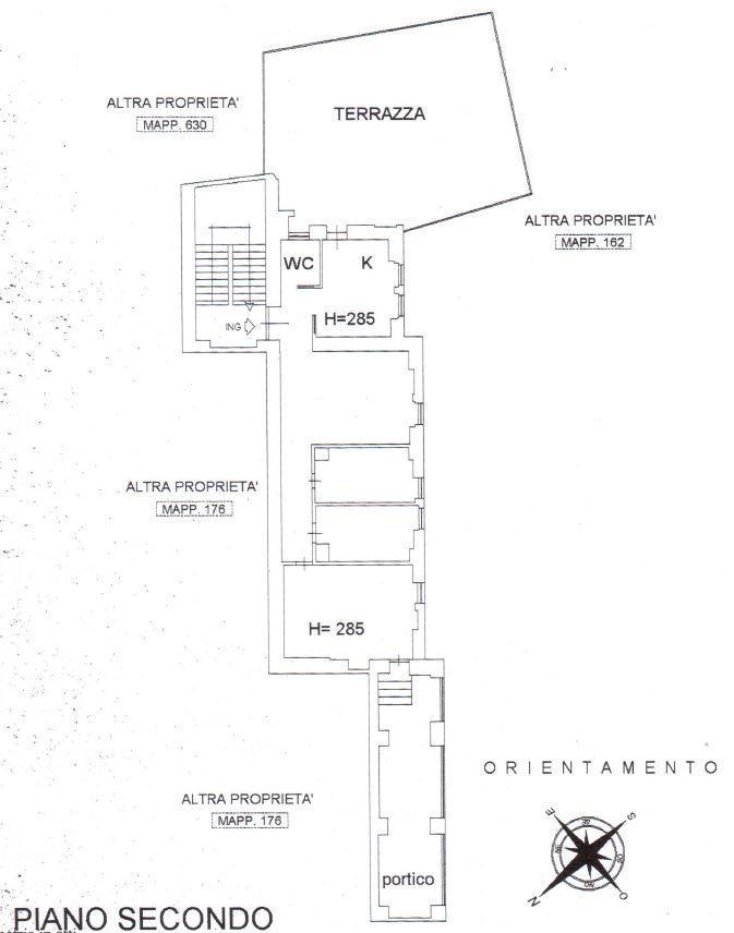 Planimetria 1/1 per rif. A637