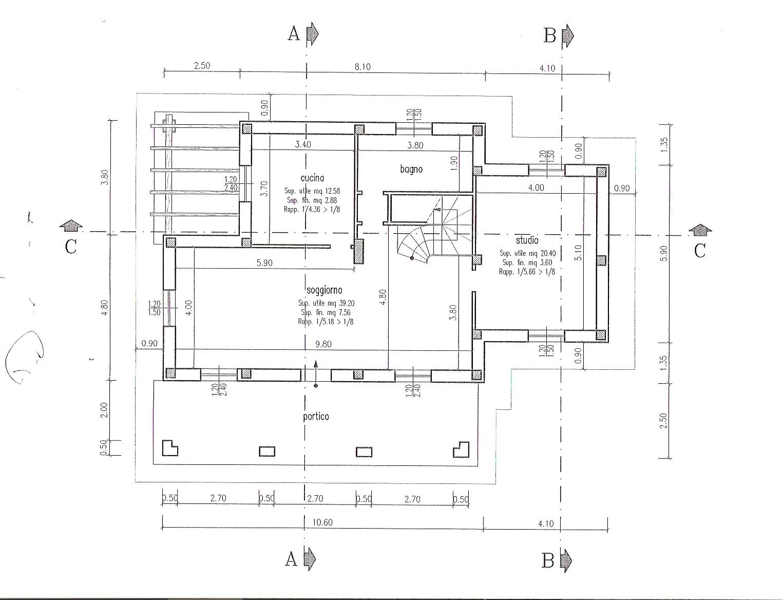 Planimetria 1/5 per rif. 200593