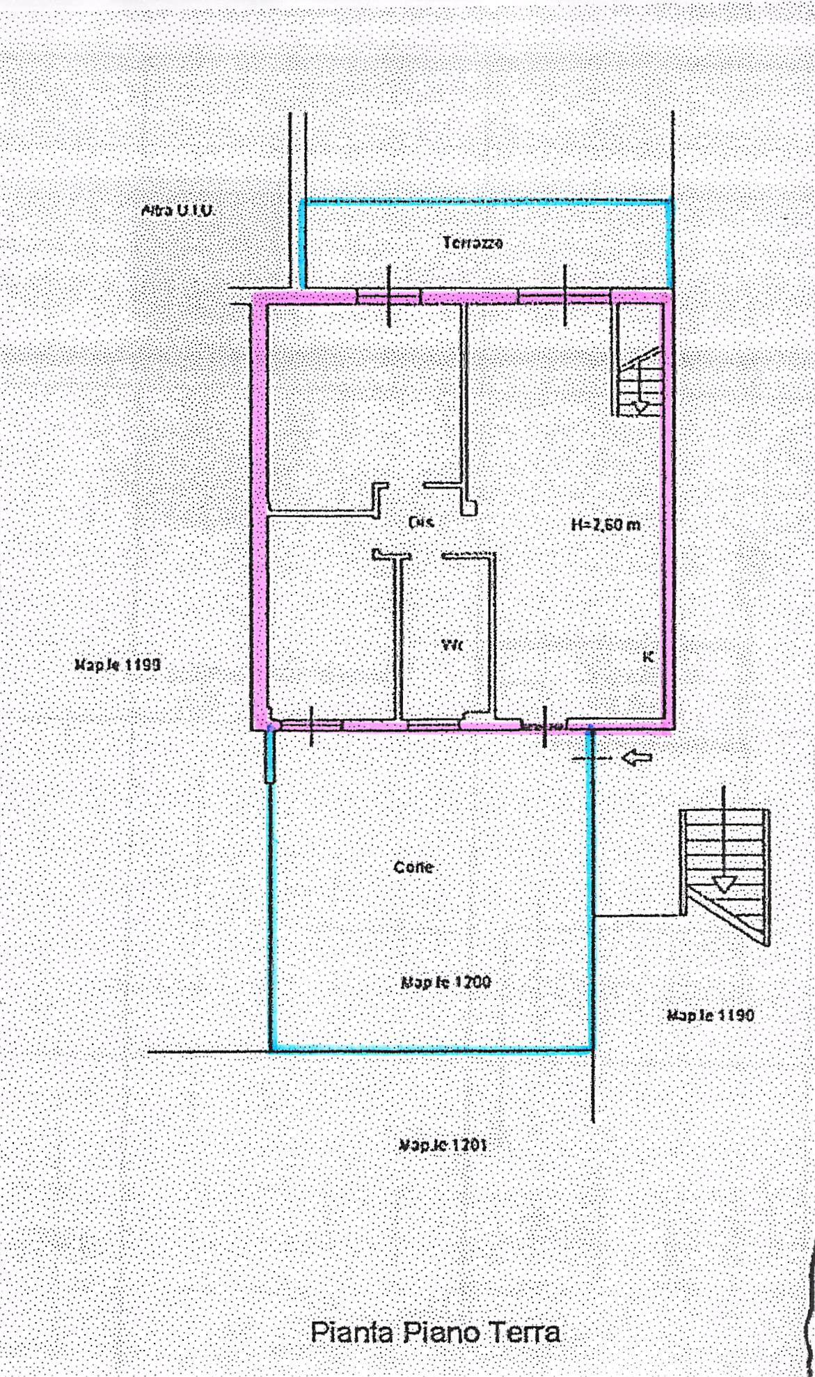 Planimetria 1/2 per rif. B108