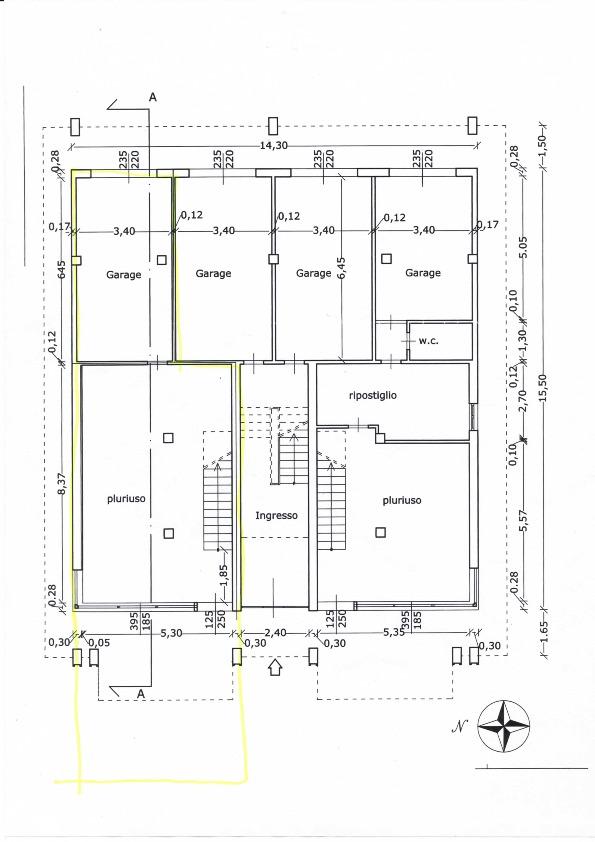Planimetria 1/2 per rif. 612