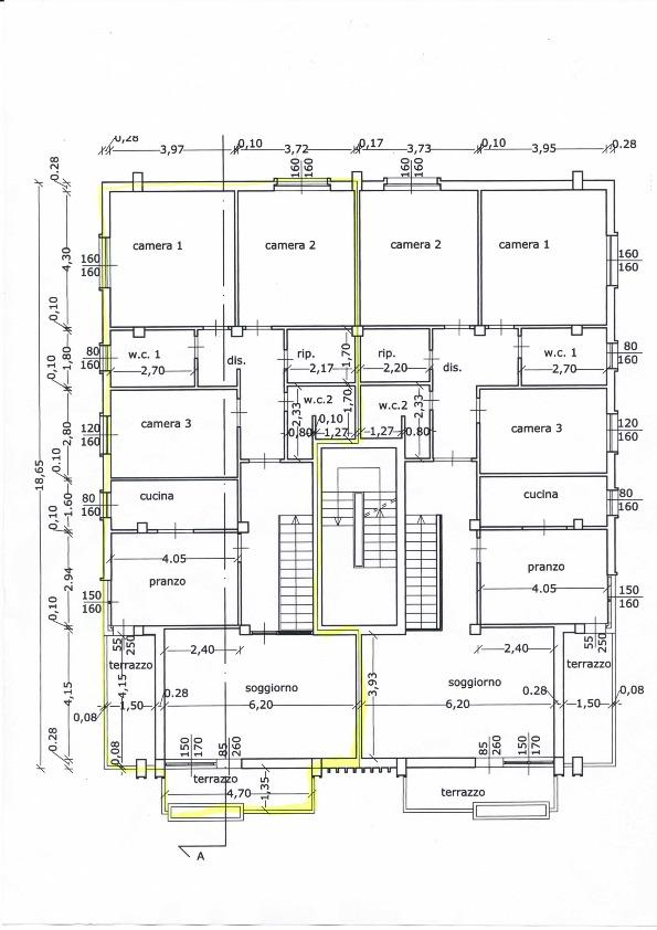 Planimetria 2/2 per rif. 612