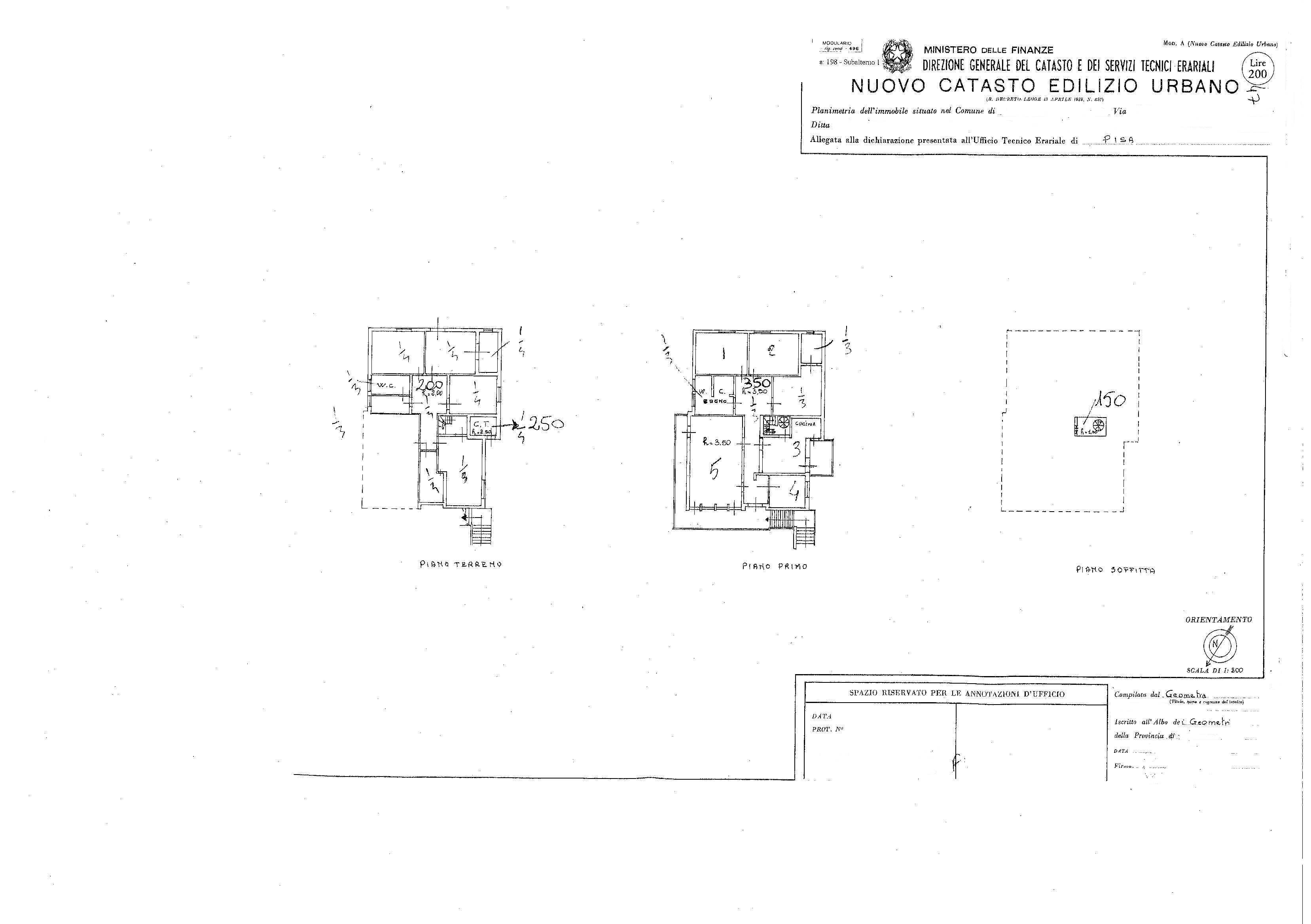 Planimetria /1 per rif. 2179