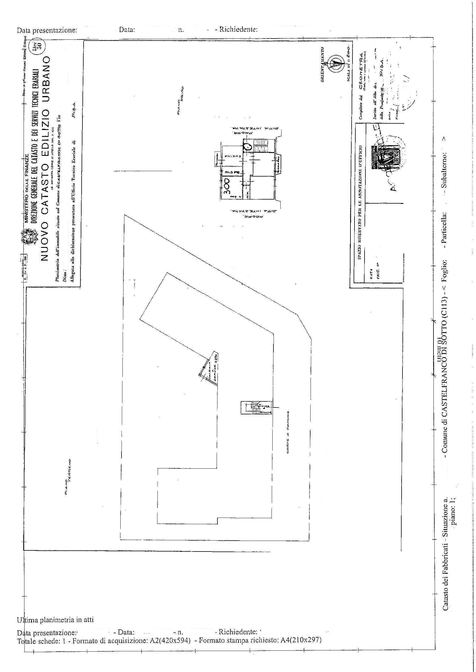 Planimetria /2 per rif. 2203