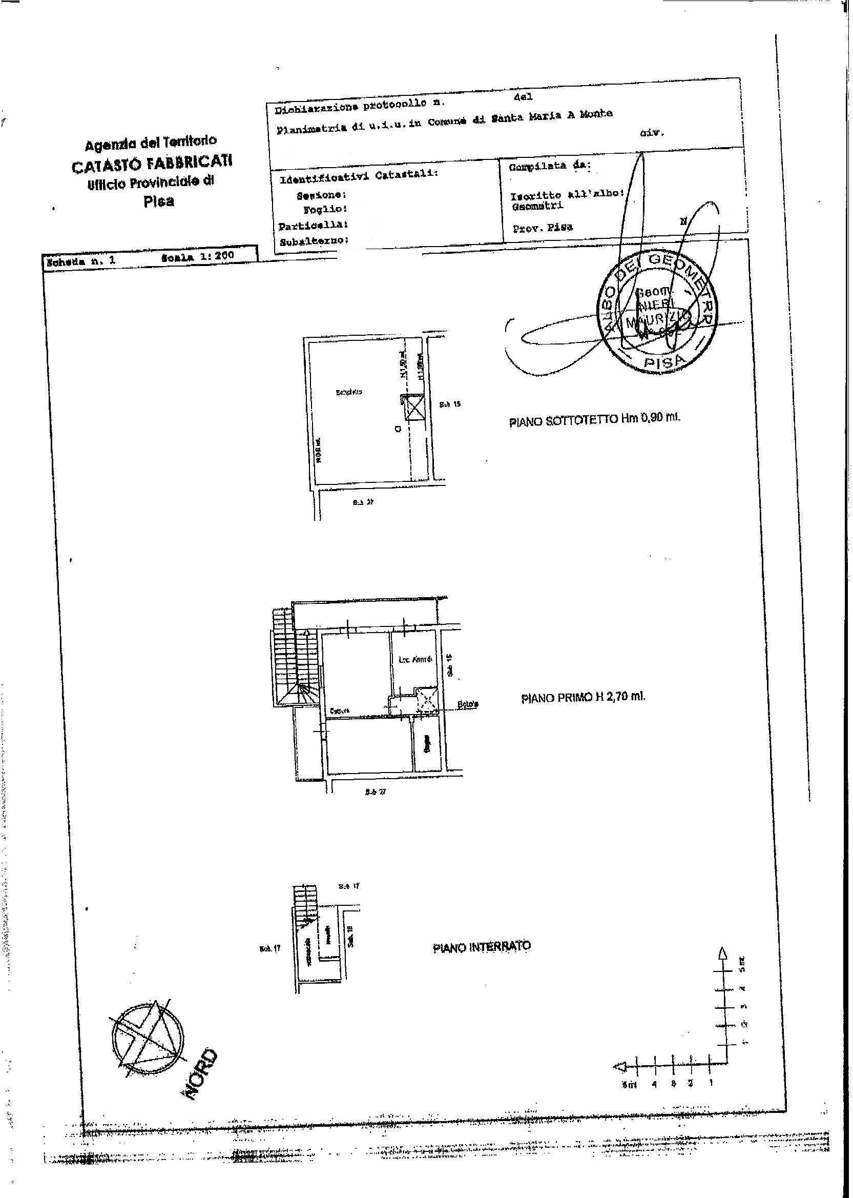 Planimetria /1 per rif. 2213