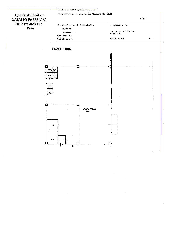 Planimetria 1/2 per rif. 2273