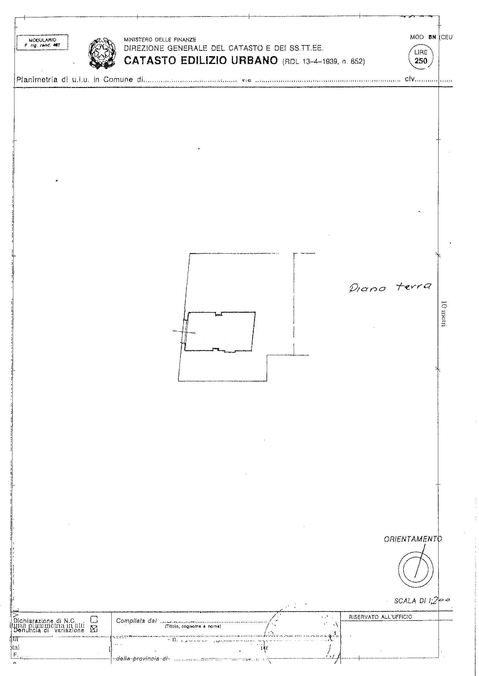Planimetria 1/2 per rif. 2330