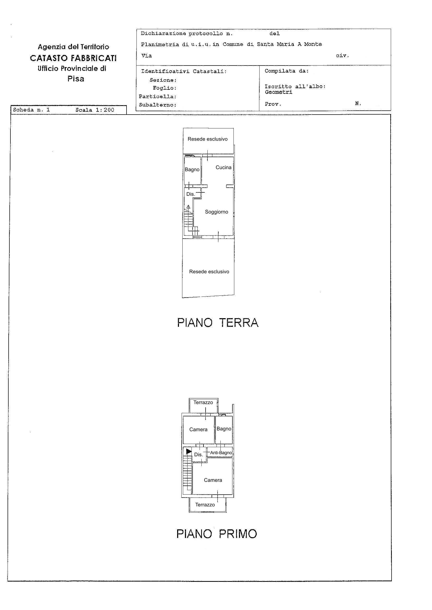 Planimetria /2 per rif. 2422